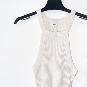 GARAGE Ribbed Knit High Neck Tank Top